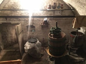 Inside the entryway of the 18th century wine cellar.