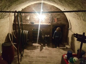 Entryway of the 13th Century wine cellar.