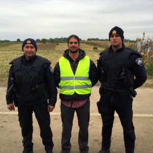 Some cops were pretty rude to the refugees, but most were nice and helpful.
